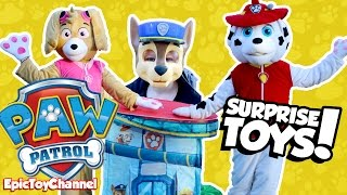 Giant PAW PATROL Surprise Tent Marshall & Chase IN REAL LIFE PJ Masks & Blaze Monster Truck Surpise