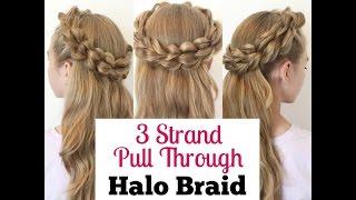 3 Strand Pull Through Halo Braid Tutorial