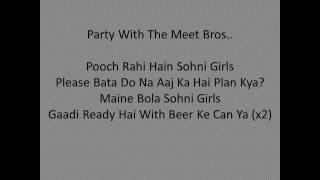 Party Animals|Meet Bros,Poonam Kay|Lyrical Video|2016