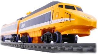 TRAINS FOR CHILDREN: MST Megapolis Speed Train, Orange High-Speed Passenger Train