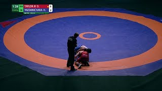 GOLD FS - 86 kg: D. TAYLOR III (USA) df. H. YAZDANICHARA (IRI) by FALL, 8-4