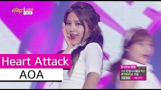 [HOT] AOA - Heart Attack, 에이오에이 - 심쿵해, Show Music core 20150711