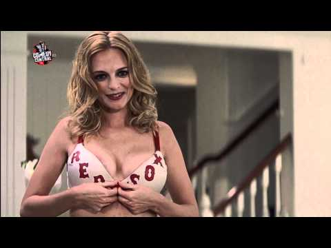 Heather Graham strips to bra and panties