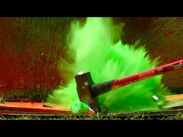 Explodierende Sprühfarbe bei 2500fps - The Slow Mo Guys