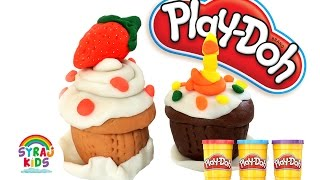 Play Doh | Play & Learn How to Make a Cupcake كيك