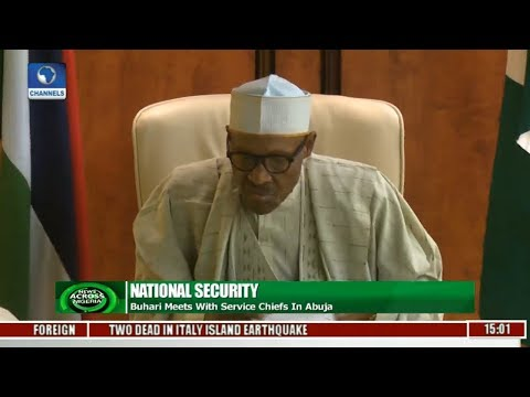 Buhari Meets With Service Chiefs In Abuja Pt.1 |News Across Nigeria|