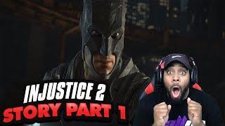 INJUSTICE 2 Walkthrough Gameplay Part 1 - Krypton (Story Mode) Batman vs Superman Fight