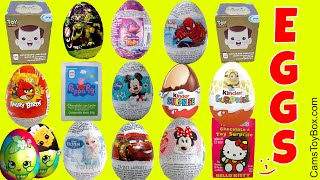 Surprise Chocolate Eggs Despicable Me 3 Kinder Cars Shopkins Toy Story Trolls Mickey Minnie Mouse