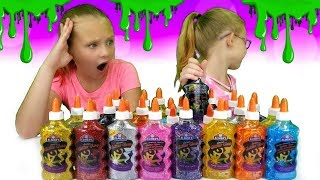 3 COLORS OF GLUE SLIME CHALLENGE !!!!