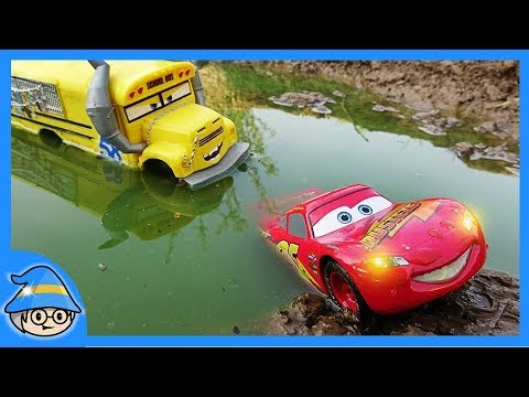 Xxx Mp4 Rescue Disney Lightning McQueen From A Puddle Of Water The School Bus Follows 3gp Sex