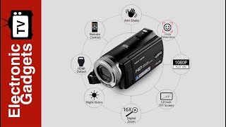 Ordro V12 HD Digital Video Camera with 20MP Pictures, 1000mAh