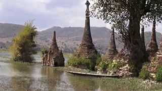 Myanmar 's southern part of Inle lake.