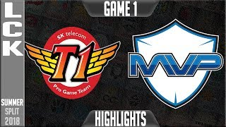 SKT vs MVP Highlights Game 1   LCK Summer 2018 Week 5 Day 1   SK Telecom T1 vs MVP G1