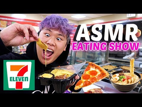 Eating LUNCH at 7 ELEVEN ASMR Mukbang Chili Cheese Nachos Eating Show WITH REAL SOUNDS