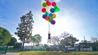 FLYING WITH GIANT HELIUM BALLOONS (INSANE)