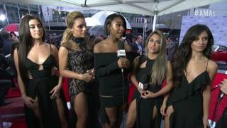 Fifth Harmony and DJ Khaled Red Carpet Interview - AMAs 2016