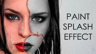 Paint splash effect   photoshop tutorial   photo effects