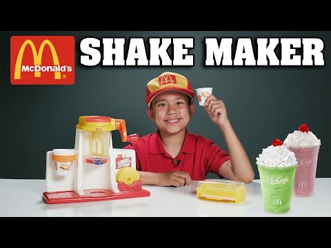 watch McDonald's SHAKE MAKER!!! Gross Cooking with Evan - Vintage Toy Review!