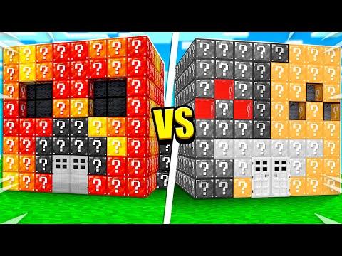 Preston vs Bionic LUCKY BLOCK House Build Battle Minecraft
