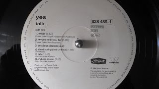 Yes - Talk (1994 original vinyl rip / LP / full album)