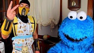 Scorpion & Cookie Monster make Cookies! (Cooking With Scorpion #4) Mortal Kombat