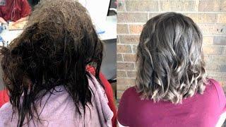 16-Year-Old Battling Depression Smiles After Hairdresser Untangles Mangled Locks