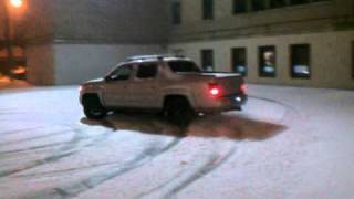 Snow Drift At School Yard