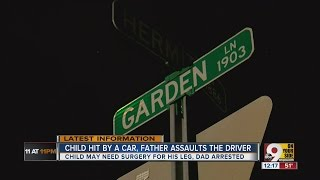 PD: Man punches woman in the face, hits her car after his child was struck by their vehicle