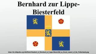 Bernhard zur Lippe-Biesterfeld