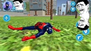 SPIDERMAN belajar terbang malah nabrak pohon toge - STRANGE HERO NEW WAR (ANDROID)