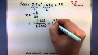 Pre-Calculus - Finding the maximum or minimum of a function