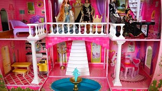 My New Barbie Dollhouse! Cute Fairy Tale Castle Review and Tour - Kid-friendly entertainment