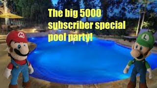 The big 5000 subscriber special pool party!