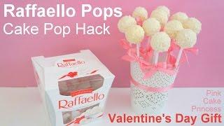 Easy No Bake Cake Pop Hack - how to Raffaello Pops Bouquet