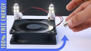 100 % FREE ENERGY Light Bulb Experiment - Magnet Power Generator