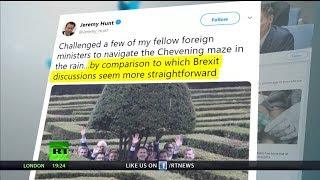 Jeremy Hunt gets EU ministers to navigate his maze & makes poor Brexit joke