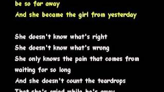 THE GIRL FROM YESTERDAY-THE EAGLES[KARAOKE]