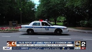 'All clear' given at Stevenson Univesity after false report of armed person on campus