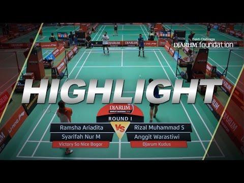 Ramsha A/Syarifah Nur M (VICTORY SO NICE BOGOR) VS Rizal Muhammad/Anggit Warastiwi (DJARUM KUDUS)
