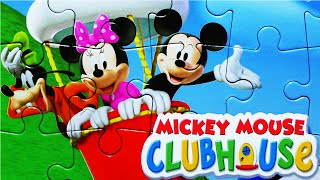 Mickey Mouse CLUBHOUSE Puzzle Games Disney Puzzles Rompecabezas De Play Kids Learning Toys
