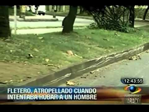 Fletero atropellado en Medellín