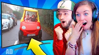 Ali-A & CLARE REACT to their 1ST VIDEO GAME ADVERT!