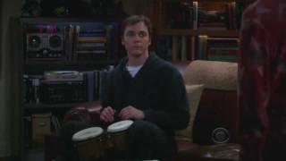 Sheldon plays the bongos (S5E18) legendado