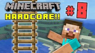 Minecraft HC #4! - Part 8 (GOOD LADDER, BRO!)