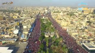 تصوير جوي خرافي لمظاهرة ساحة التحرير (تصوير احترافي  ) HD full 2016