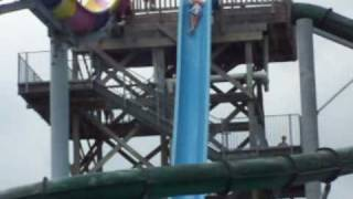 Me on the Screamin' Demon water slide, WaterVille USA, Gulf Shores, AL