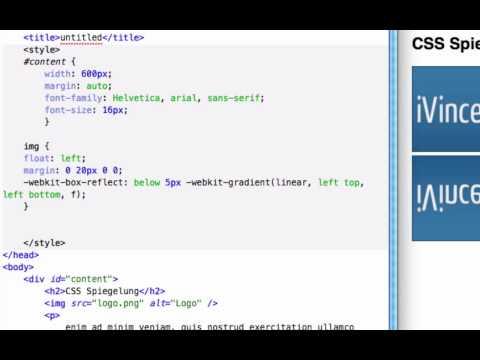 CSS: Spiegelung mit CSS3