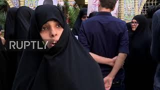 Iran: Female seminaries protest Trump following Washington