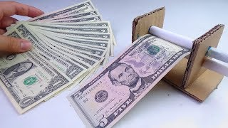 How to Make Simple Money Printer at Home from Cardboard - Diy Great Idea
