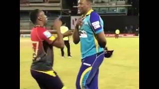 Dwayne bravo teach pollard to how to dance (Champion)